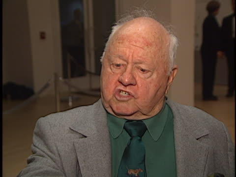 Mickey Rooney at the Judy Garland Biography Party at Museum of TV Beverly Hills in Beverly Hills CA