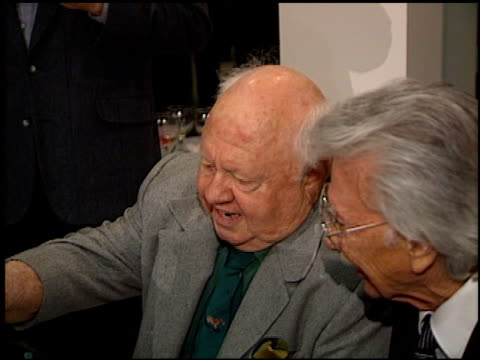 mickey rooney at the judy garland biography party at the museum of television and radio in beverly hills, california on march 12, 1997. - judy garland stock videos & royalty-free footage