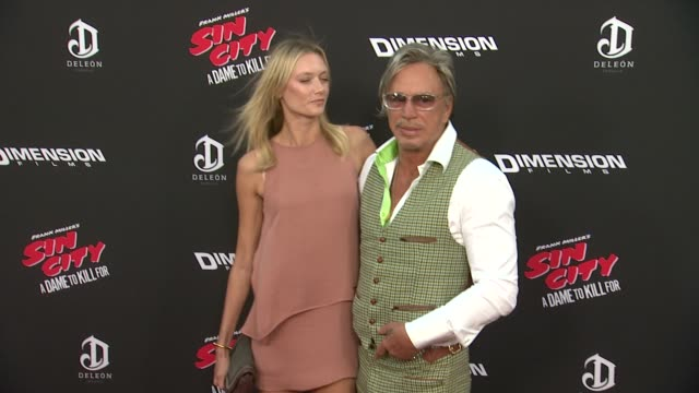 Mickey Rourke Anastassija Makarenko at Sin City A Dame To Kill For Los Angeles Premiere at TCL Chinese Theatre on August 19 2014 in Hollywood...