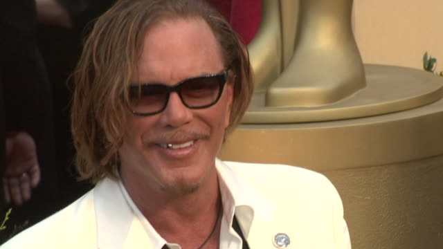 mickey rourke at the 81st academy awards arrivals part 7 at los angeles ca - 2009 stock videos & royalty-free footage