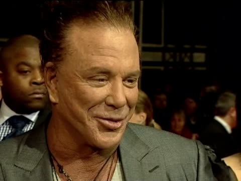 mickey rourke talks to press at british academy film awards 21 february 2010 - mickey rourke actor stock videos & royalty-free footage