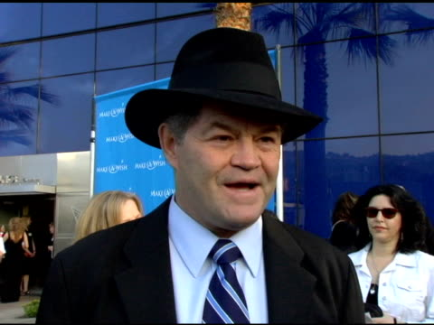 Micky Donlenz on why he's at the event an impersonation of a mobster at the 'Uncork A Wish' at The MakeAWish Foundation 13th Annual wine tasting and...