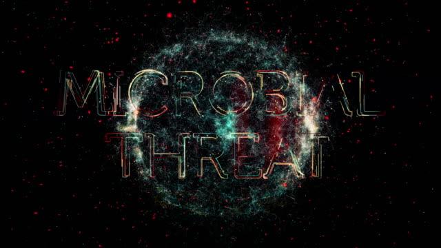 microbial threat title animation - escherichia coli stock videos & royalty-free footage