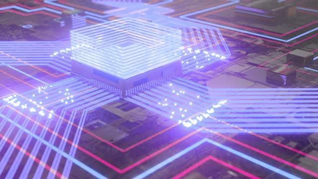 microchip-konzeptdaten - schaltkreis stock-videos und b-roll-filmmaterial