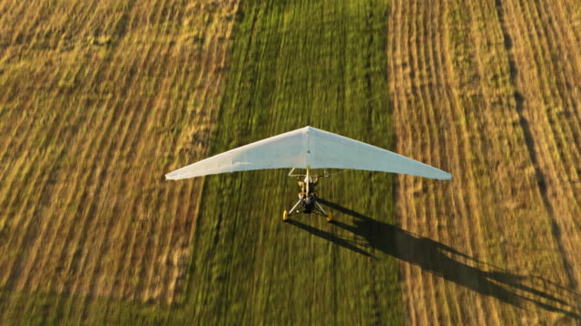 microlight taking off - triangle shape stock videos & royalty-free footage