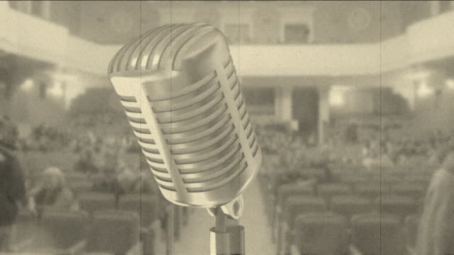 microphone and a concert hall (timelapse) - concert hall stock videos and b-roll footage