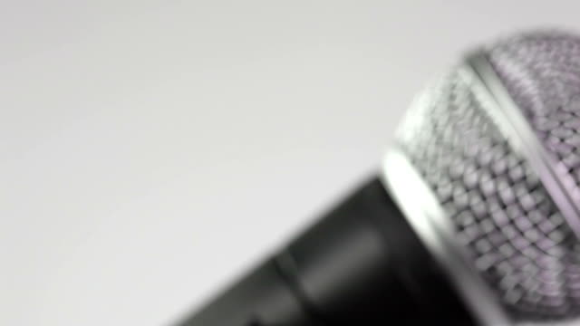 microphone - close up - microphone stock videos and b-roll footage