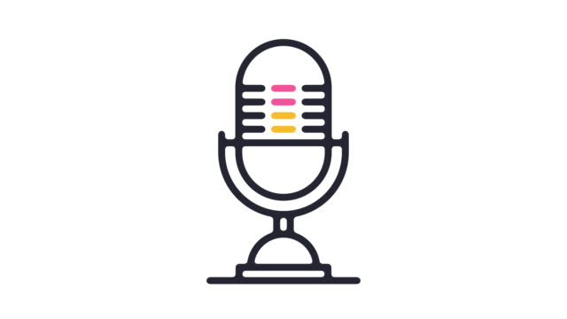 microphone icon animation - microphone stock videos & royalty-free footage