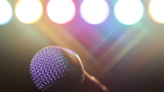 microphone on stage - microphone stock videos and b-roll footage