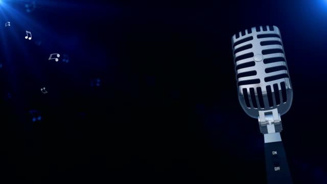 mikrofon - moderator stock-videos und b-roll-filmmaterial