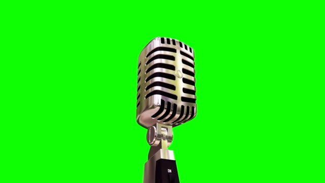 microphone (loopable) - microphone stock videos & royalty-free footage