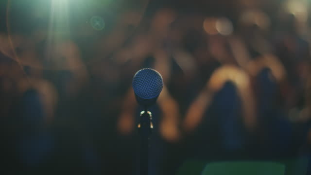 pov microphone - audience stock videos & royalty-free footage