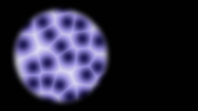 microscope zoom in to blue cell pattern - zoom in stock videos & royalty-free footage