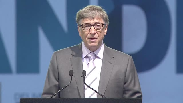 Microsoft founder and philanthropist Bill Gates delivers the 14th annual Nelson Mandela Foundation lecture in Pretoria on the eve of the former...