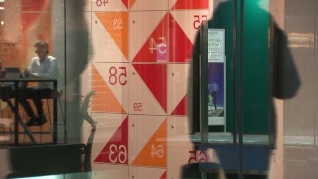 microsoft london office interior gvs england london paddington microsoft london int various interior gvs of microsoft london open plan offices... - corporate business stock videos & royalty-free footage