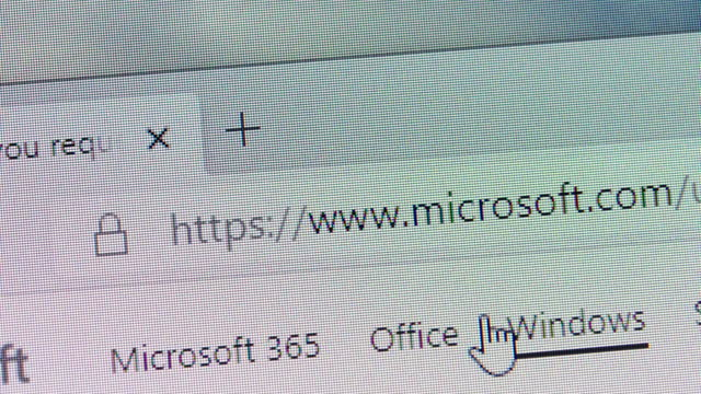 microsoft's url is typed in web browsers' address box on december 30, 2020. - web address stock videos & royalty-free footage