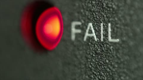 vídeos y material grabado en eventos de stock de estado del enlace microondas fallan - mensaje de error