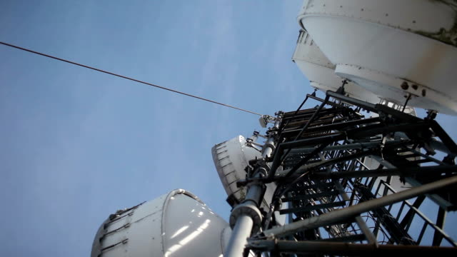 microwave transmitter antenna - microwave tower stock videos and b-roll footage