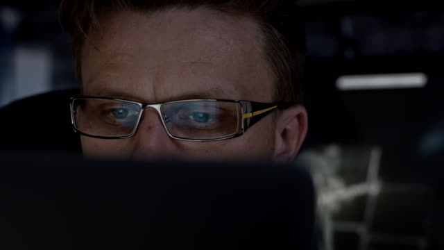 Mid adult man working on a computer