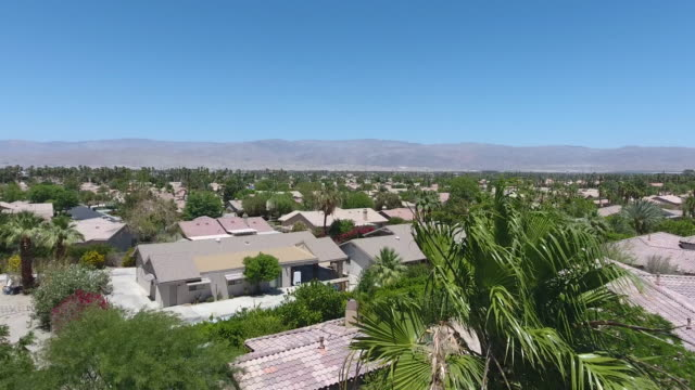 mid century residential street in palm springs - palm springs california stock videos & royalty-free footage