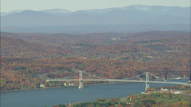 mid hudson bridge - cantilever bridge stock videos & royalty-free footage