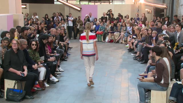 Mid looks at Paul Smith SS15 London Fashion Week on 14th September 2014 in London England