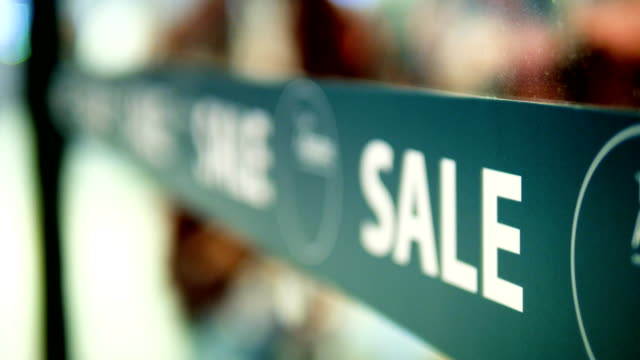mid season sale sign in store - store sign stock videos & royalty-free footage