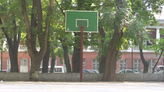 mid shot basketball basket - sportplatz stock-videos und b-roll-filmmaterial