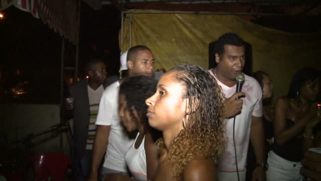 mid shot funky singer at funk party in cerra cora - funky stock videos & royalty-free footage