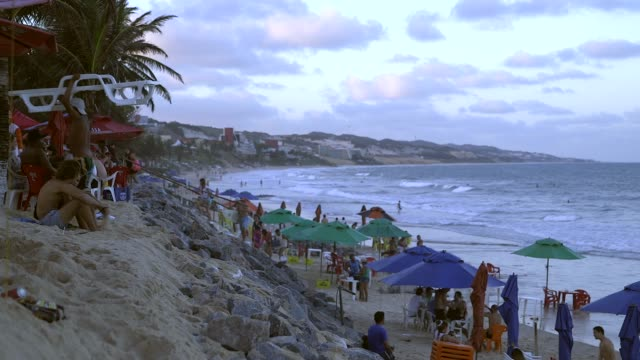 Mid Shot general views from a beach in Natal Brazil shot on December 8th 2014 Natal is located on the northeastern coast of Brazil It is the capital...