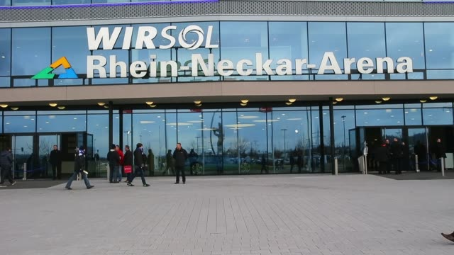 mid shot, general views of the wirsol rhein neckar arena prior to the bundesliga match between 1899 hoffenheim and werder bremen. no sound - 1899 stock videos & royalty-free footage