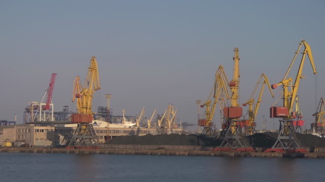 mid shot industry part of harbour of Odessa