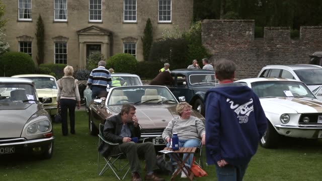 mid shot of classic cars. now in its 19th year and organized by the classic & historic motor club, this year's event will once again raise funds for... - wells cathedral stock videos & royalty-free footage