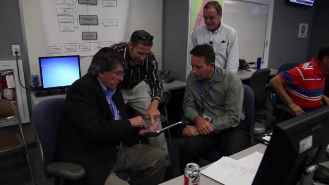 mid shot of emergency response personel. emergency response personnel participate in a hurricane response exercise at the south florida water... - practice drill stock videos & royalty-free footage