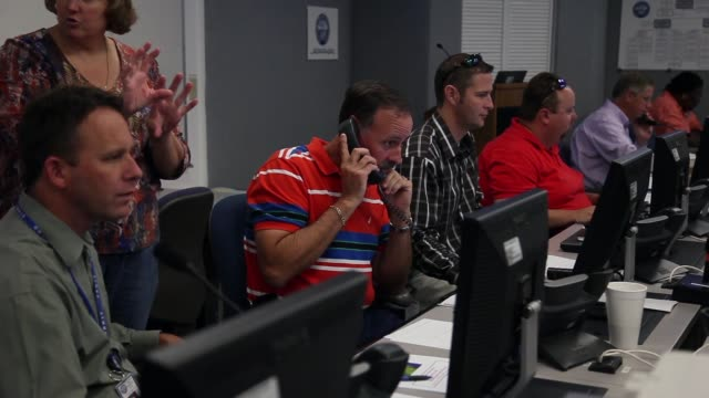 mid shot of emergency response team. emergency response personnel participate in a hurricane response exercise at the south florida water management... - practice drill stock videos & royalty-free footage