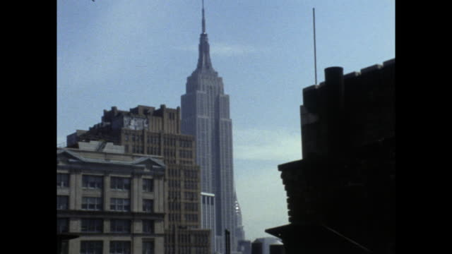 mid shot of empire state building; 1971 - mid distance stock videos & royalty-free footage