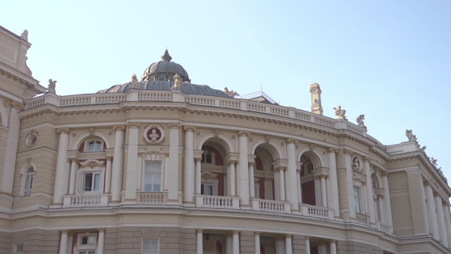 Mid shot Opera House in Odessa
