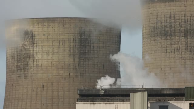 Mid Shot steam rises from the RatcliffeonSoar coal fired power station on October 17 2013 in Nottinghamshire England