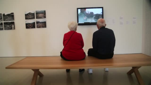 mid shot visitors walk through a gallery during the opening day of the pérez art museum miami on december 4 2013 in miami florida the museum designed... - biscayne bay stock videos & royalty-free footage