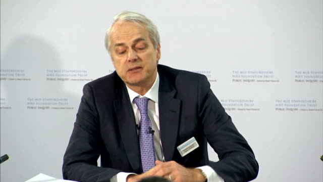 mid staffordshire nhs trust inquiry published london int robert francis qc press conference sot at every level there was a failure to communicate... - health and safety点の映像素材/bロール