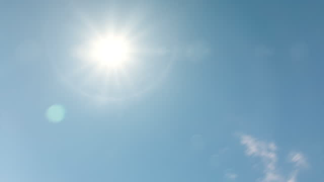 midday sun in a blue sky with dramatic cloud movement - time lapse - cumulus stock videos & royalty-free footage