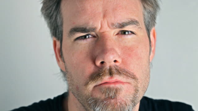 middle aged man looking at camera - goatee stock videos & royalty-free footage