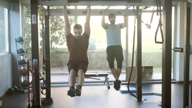 middle aged people exercising on a trademill. - pull ups stock videos & royalty-free footage