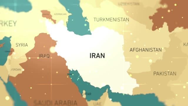 middle east iran on world map stock video - iran stock videos & royalty-free footage