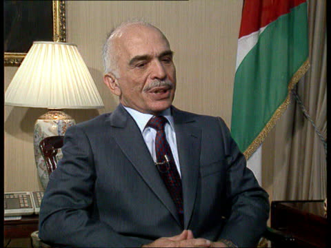 king hussein interview jordan amman cms king hussein of jordan intvwd sof historic opportunity perhaps the last amp why /continuance in building... - amplifier stock videos & royalty-free footage
