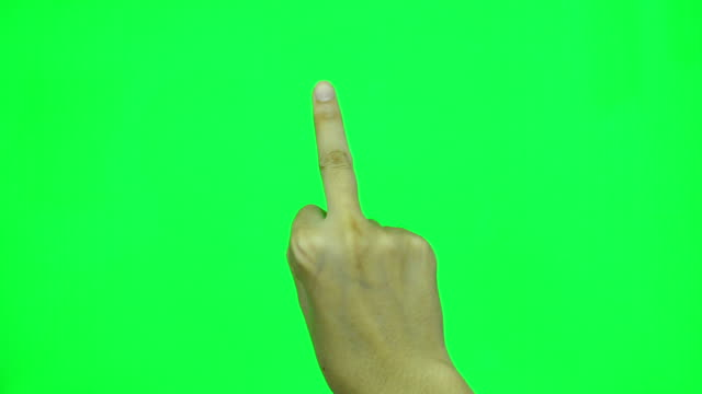 middle finger on green screen. - obscene gesture stock videos and b-roll footage