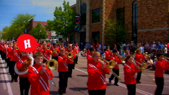 middle school marching band - parade stock videos & royalty-free footage