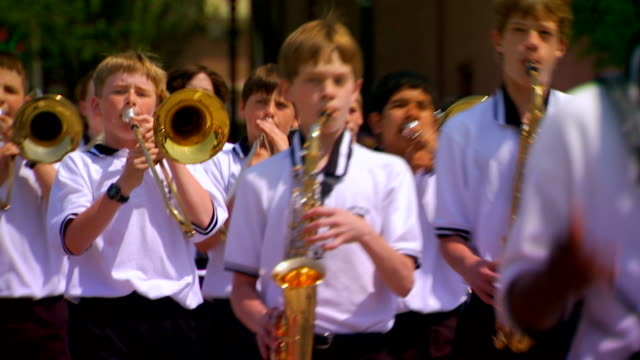 middle school marching band - trombone stock videos & royalty-free footage
