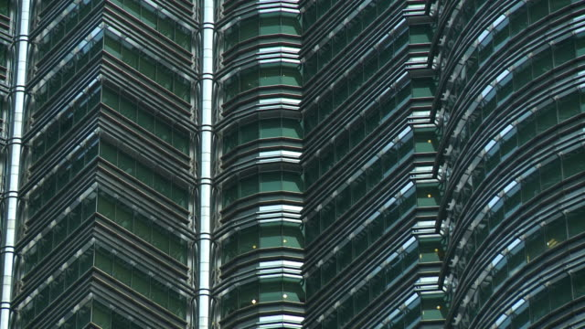 middle sections of the petronas towers - low angle view stock videos & royalty-free footage