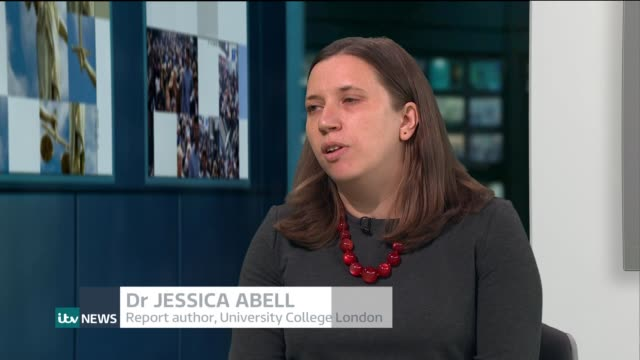 middle-aged people with raised blood pressure run a greater risk of developing dementia; england: london: gir: int dr jessica abell live studio... - 40 seconds or greater stock-videos und b-roll-filmmaterial